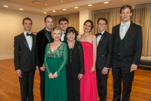 Carnegie Hall debut Roberto Deverux: Queler, Devia, Costello, Pershall, Chauvet, Kapusta Courville (photo credit:  Stephanie Berger)